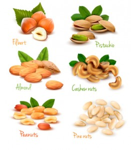 nuts contain lots of amino acids