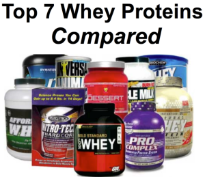 Top 7 Whey Proteins Compared