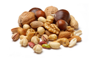 Nuts are rich in BCAAs and leucine